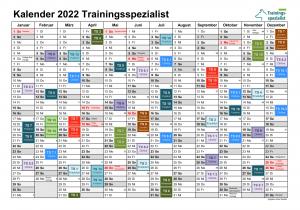 Kalender 2022 Seminartermine